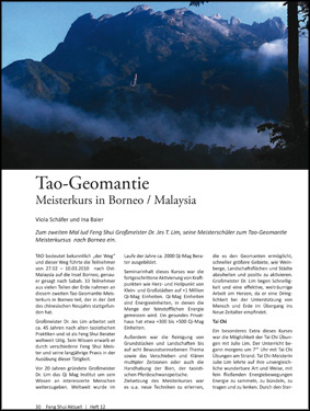 Tao-Geomantie Meisterkurs in Borneo / Malaysia